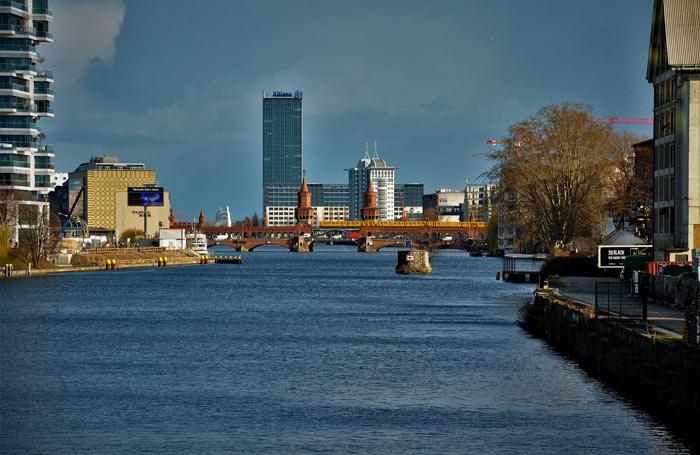 Quartiers de Berlin et rivière