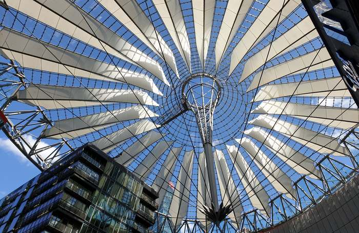 Il Sony Center alla Potsdamer Platz a Berlino