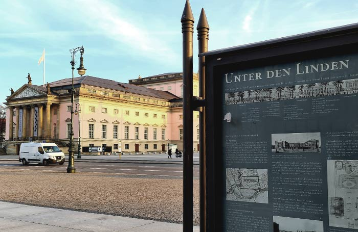 Unter den linden en Berlin.