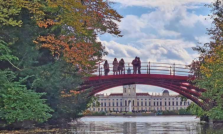 Lor jardines del Palacio de Charlottenburg en Berlín.